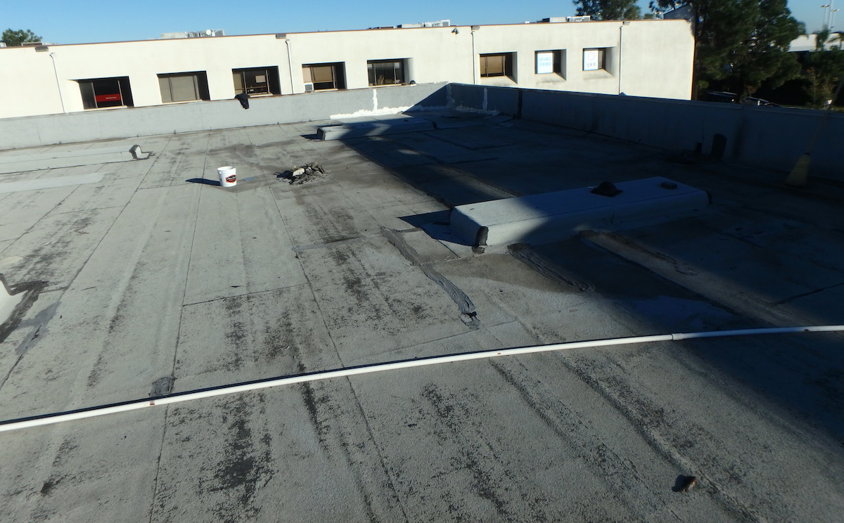 roof coating bare spots