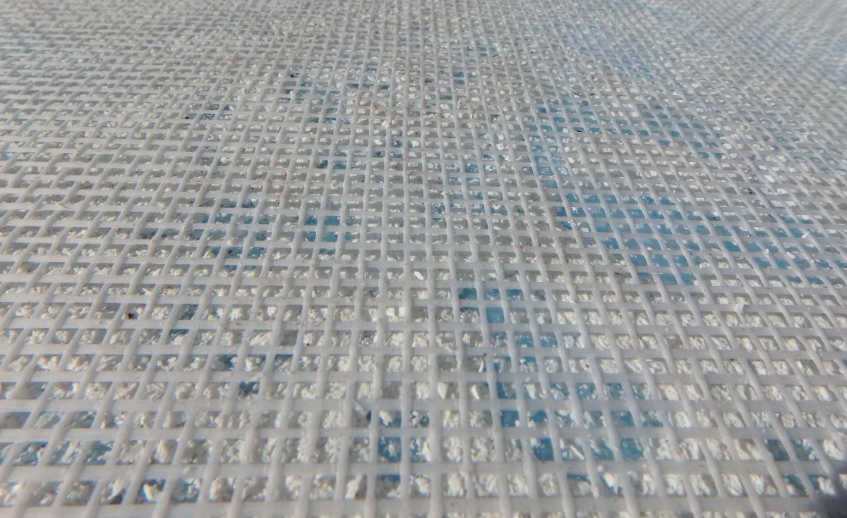 roof coating visible scrim